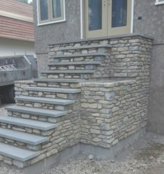 Natural Thin Stone and Blue Stone Treads